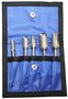RADNOR® 5 Piece Assortment Double Cut Carbide Burr Kit In Power Pouch