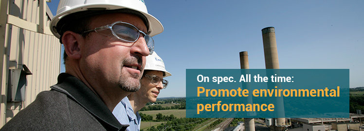 On spec, all the time: Promote environmental performance