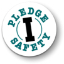 Illustrated icon of I Pledge Safety logo; teal against white.