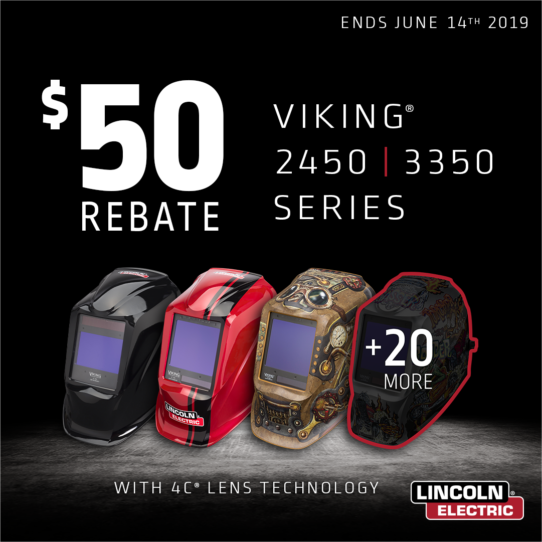 Save 50 On Lincoln Electric Viking Welding Helmets